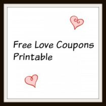 Free Love Coupons printable